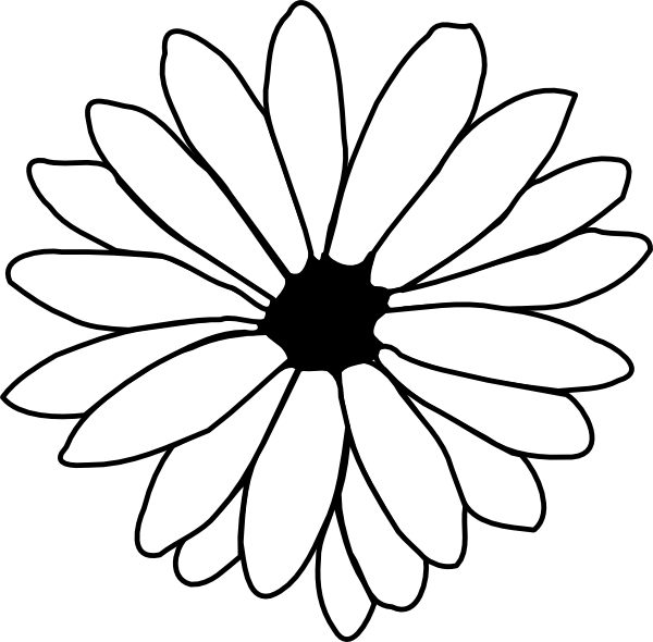 flowers outlines for colouring flower outline clip art at clkercom  vector clip art colouring for outlines flowers
