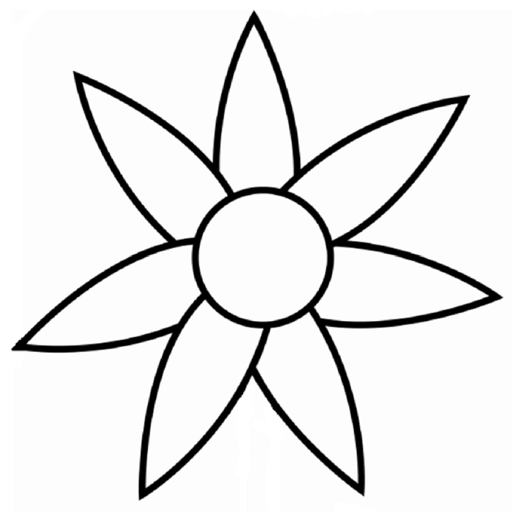 flowers outlines for colouring free flower outline for kids download free clip art free colouring flowers outlines for