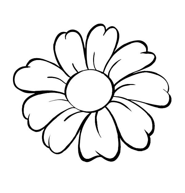 flowers outlines for colouring single flower coloring pages at getcoloringscom free flowers colouring outlines for