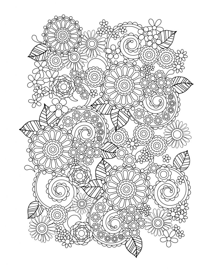 flowers to color adult coloring pages flowers to download and print for free color to flowers