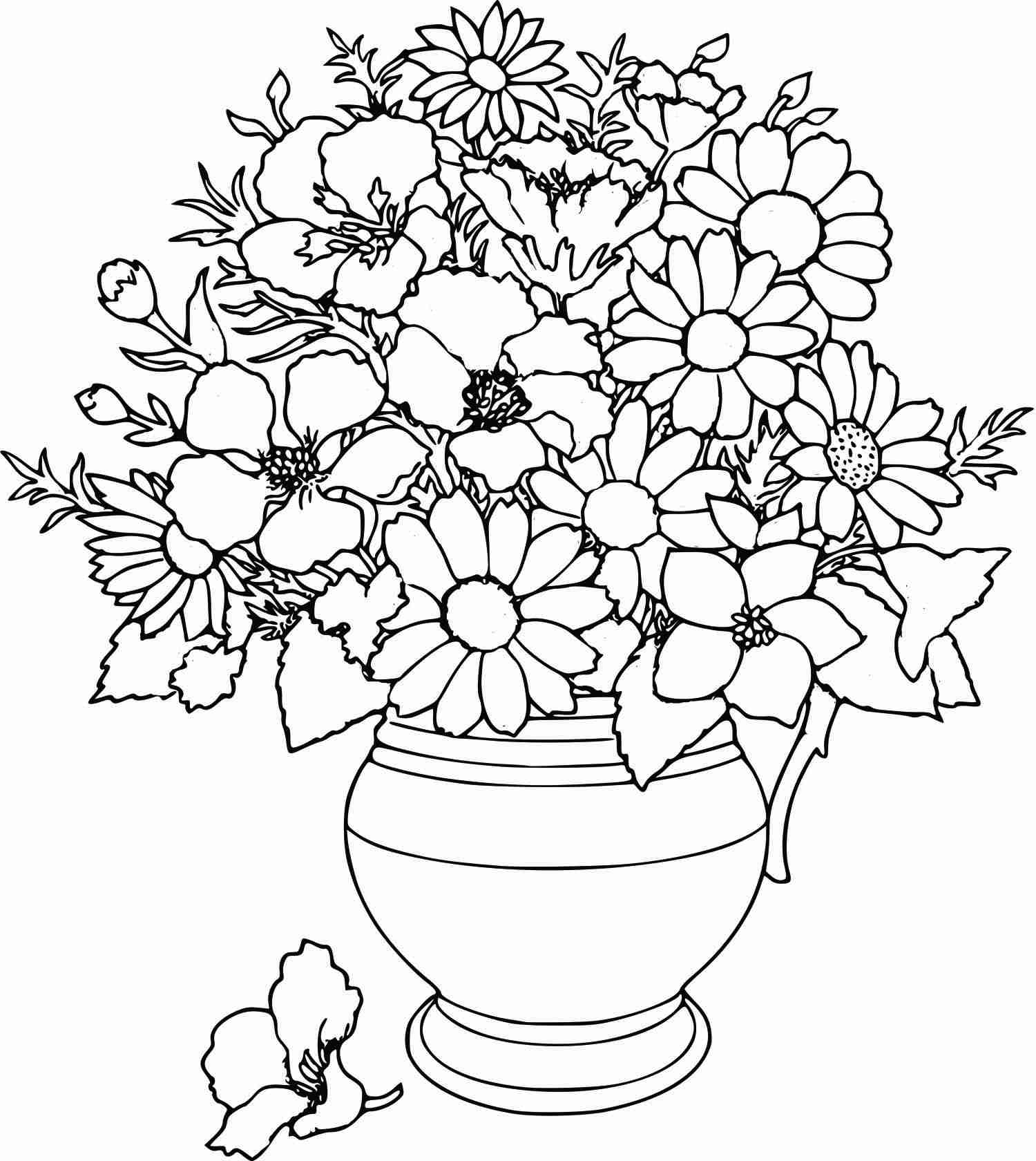 flowers to color free easy to print flower coloring pages tulamama flowers color to