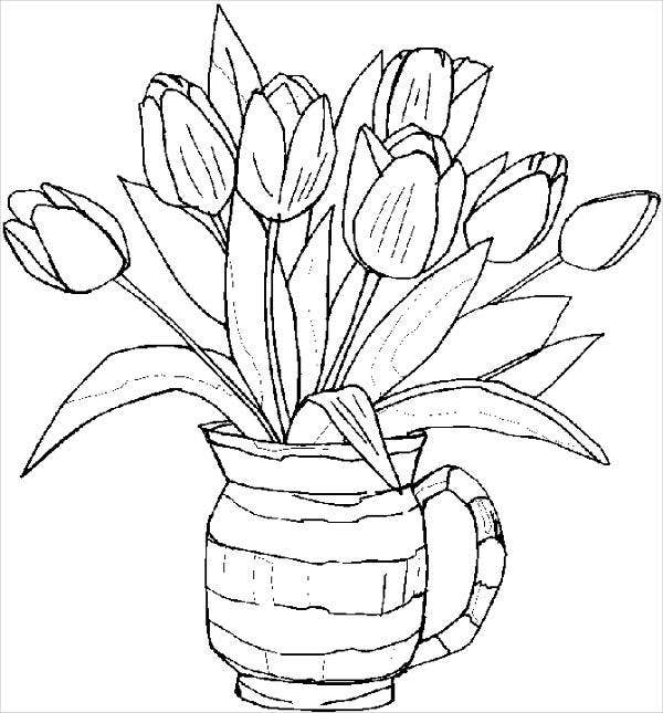 flowers to color hard flower coloring pages at getdrawings free download color flowers to