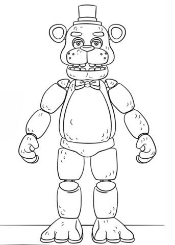 fnaf coloring pages golden freddy freddy fazbear drawing free download on clipartmag freddy coloring pages golden fnaf
