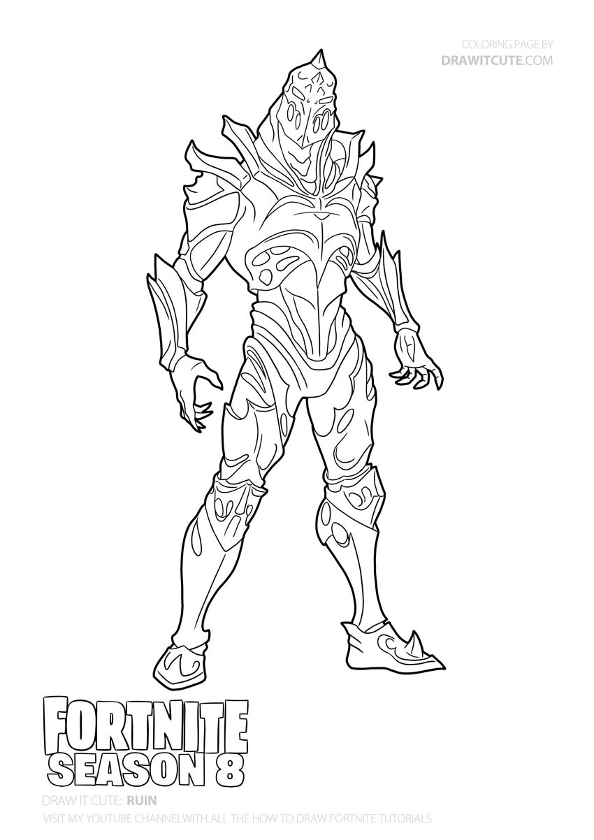 fortnite season 8 coloring pages how to draw ruin discovery skin fortnite season 8 coloring 8 pages fortnite season