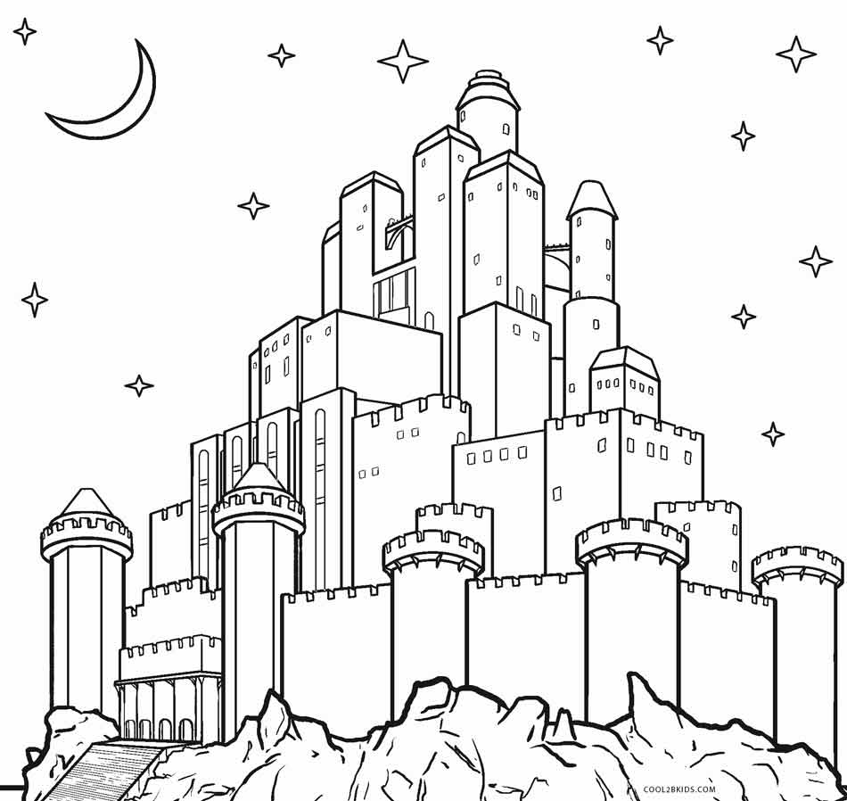 free castle coloring pages disney castle drawing simple at getdrawings free download pages castle coloring free