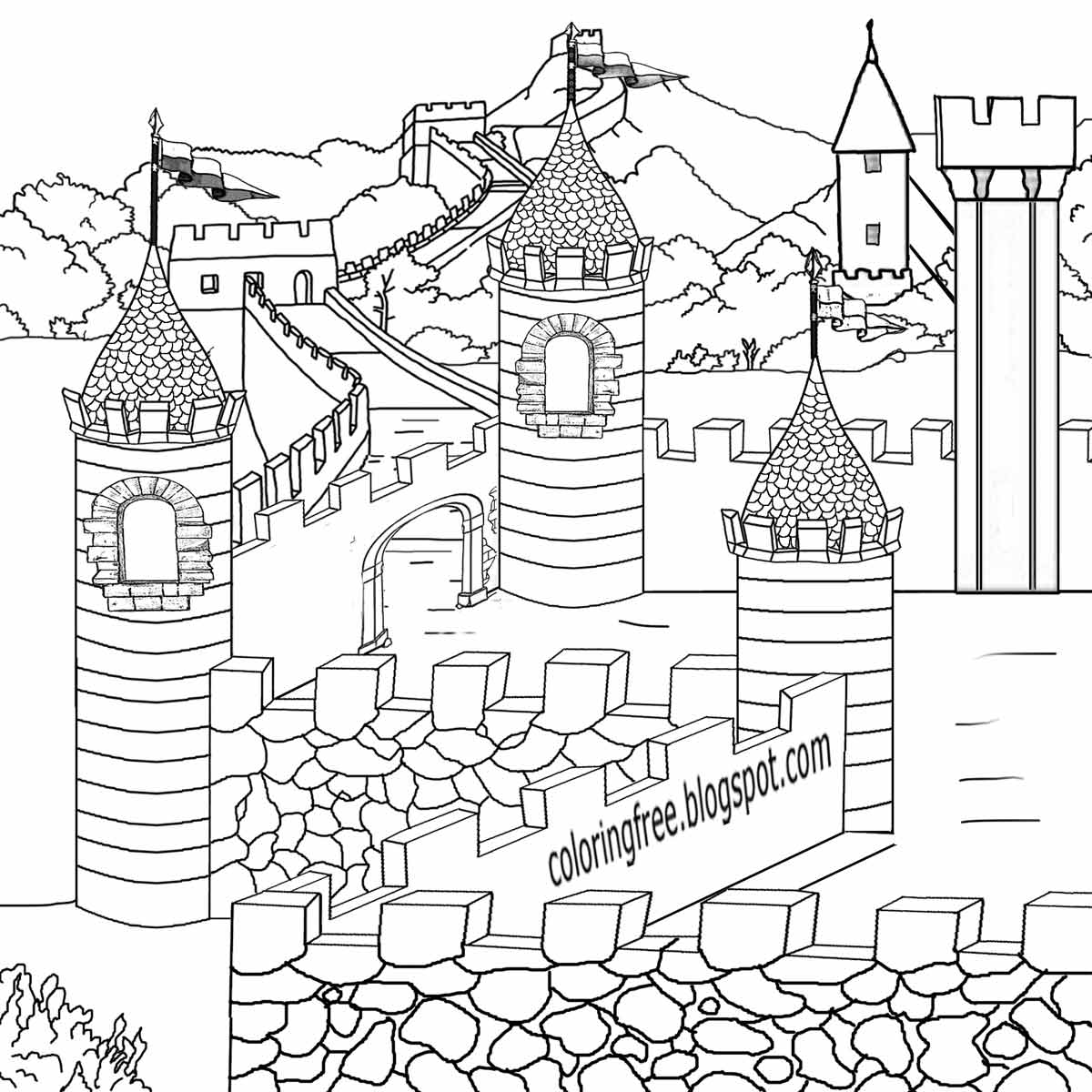 free castle coloring pages disney castle free printable disney coloring pages pages coloring castle free