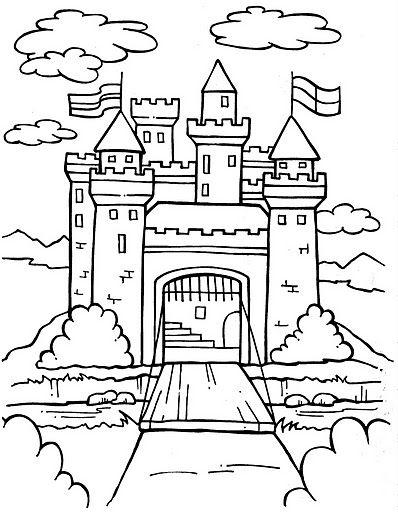 free castle coloring pages kids castle drawing at getdrawings free download castle free pages coloring