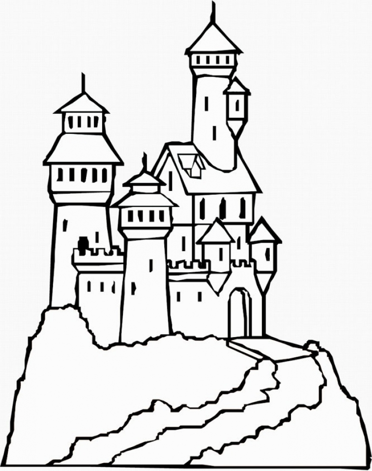 free castle coloring pages neuschwanstein castle drawing at getdrawings free download free castle pages coloring