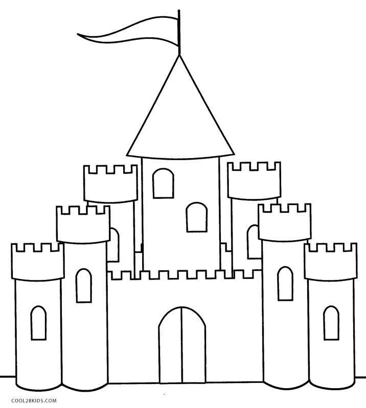 free castle coloring pages princess castle drawing at getdrawings free download coloring castle pages free