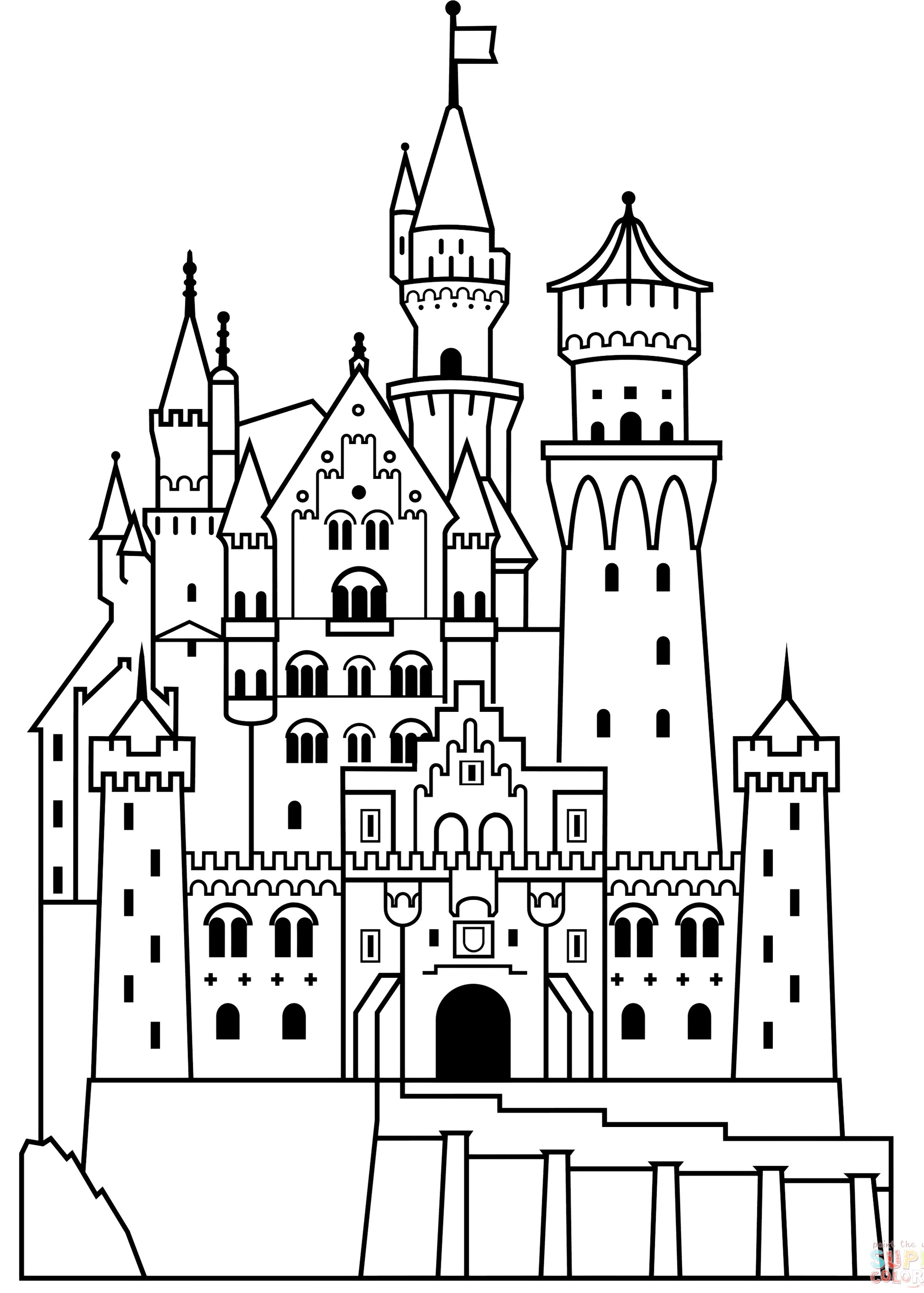 free castle coloring pages simple disney castle drawing free download on clipartmag free castle pages coloring