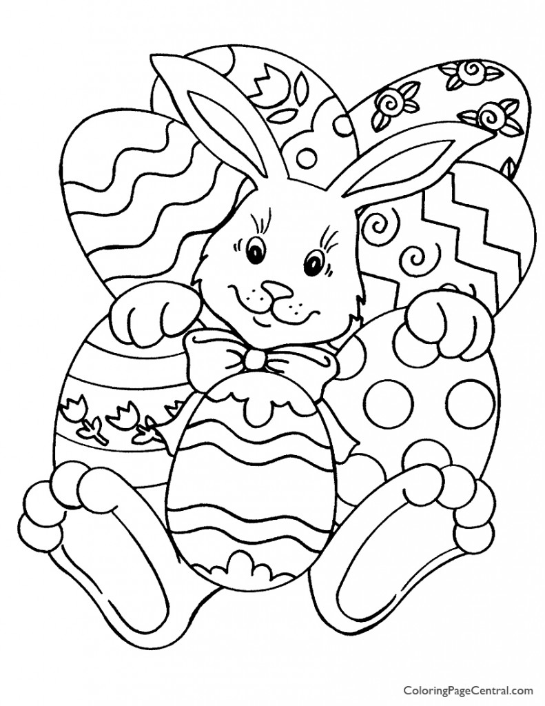 free easter coloring pages easter 01 coloring page coloring page central coloring easter pages free