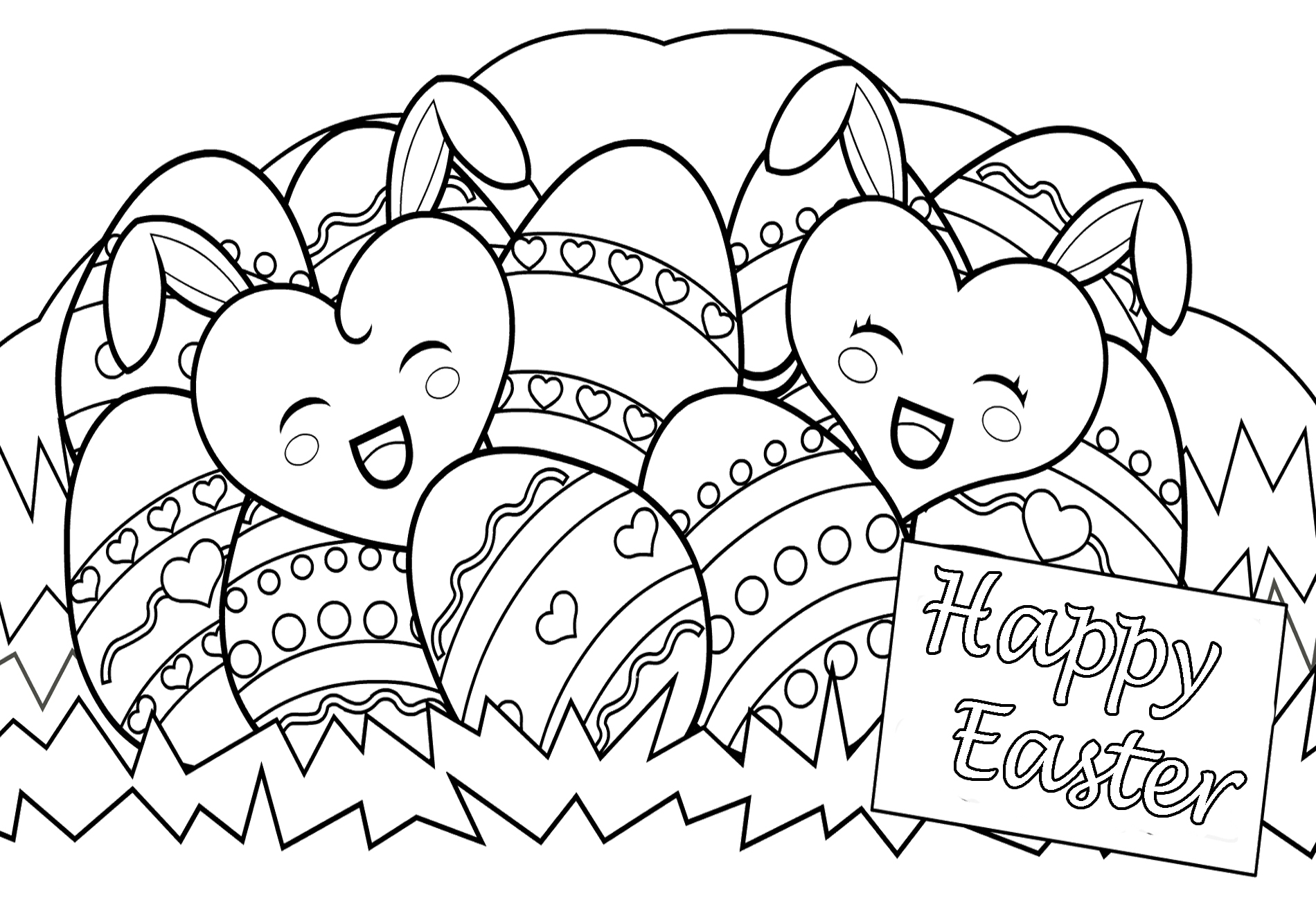 free easter coloring pages happy easter day eggs coloring print pages free printable easter pages coloring free