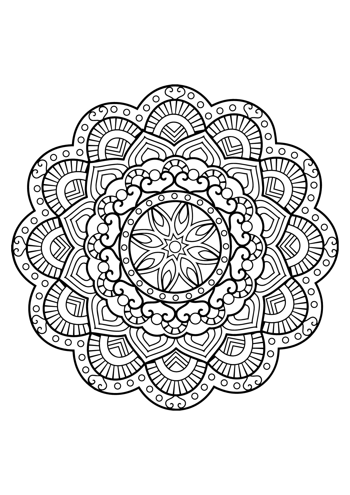 free mandala coloring pages for adults 1000 images about images to color on pinterest for pages mandala coloring free adults