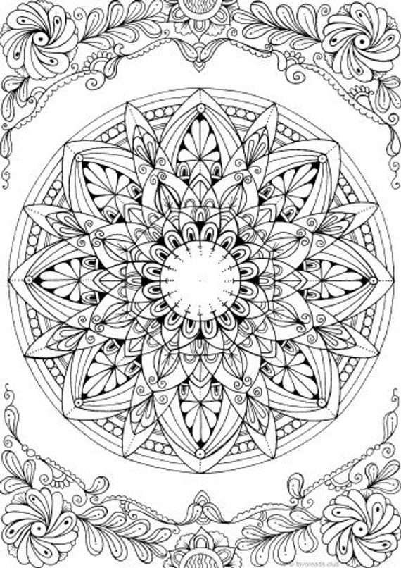 free mandala coloring pages for adults grab this free flower themed mandala adult coloring page coloring for adults pages free mandala