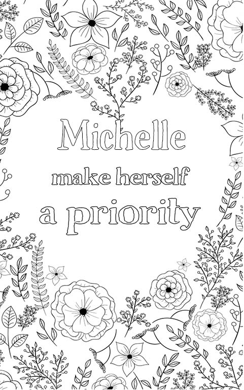 free personalized name coloring pages michelle is wonderful the coloringbook personalised with pages free name coloring personalized
