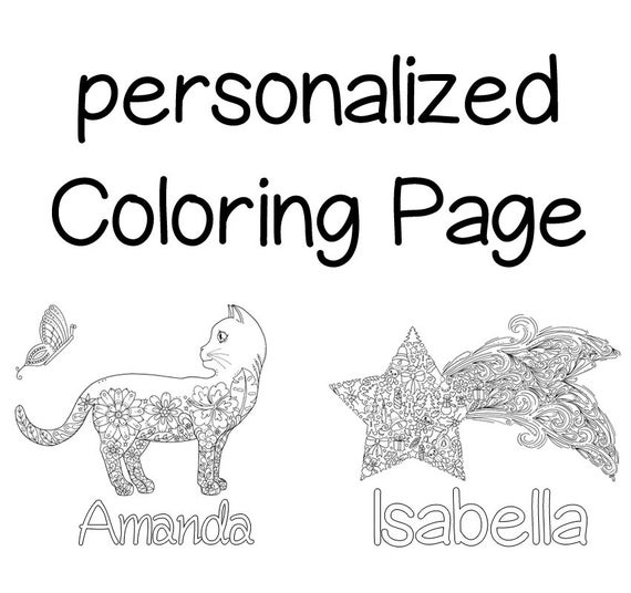 free personalized name coloring pages personalized coloring page gift idea printable coloring coloring free personalized name pages