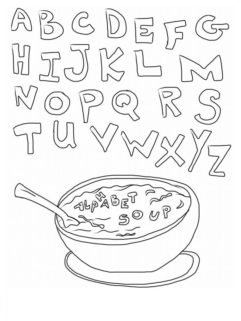 free printable alphabet coloring pages alphabet with funny letters coloring pages coloring home pages alphabet printable free coloring