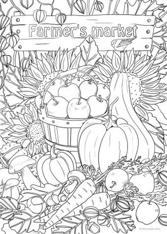 free printable coloring pages for adults and kids farmers market printable adult coloring page from and adults kids free for coloring printable pages