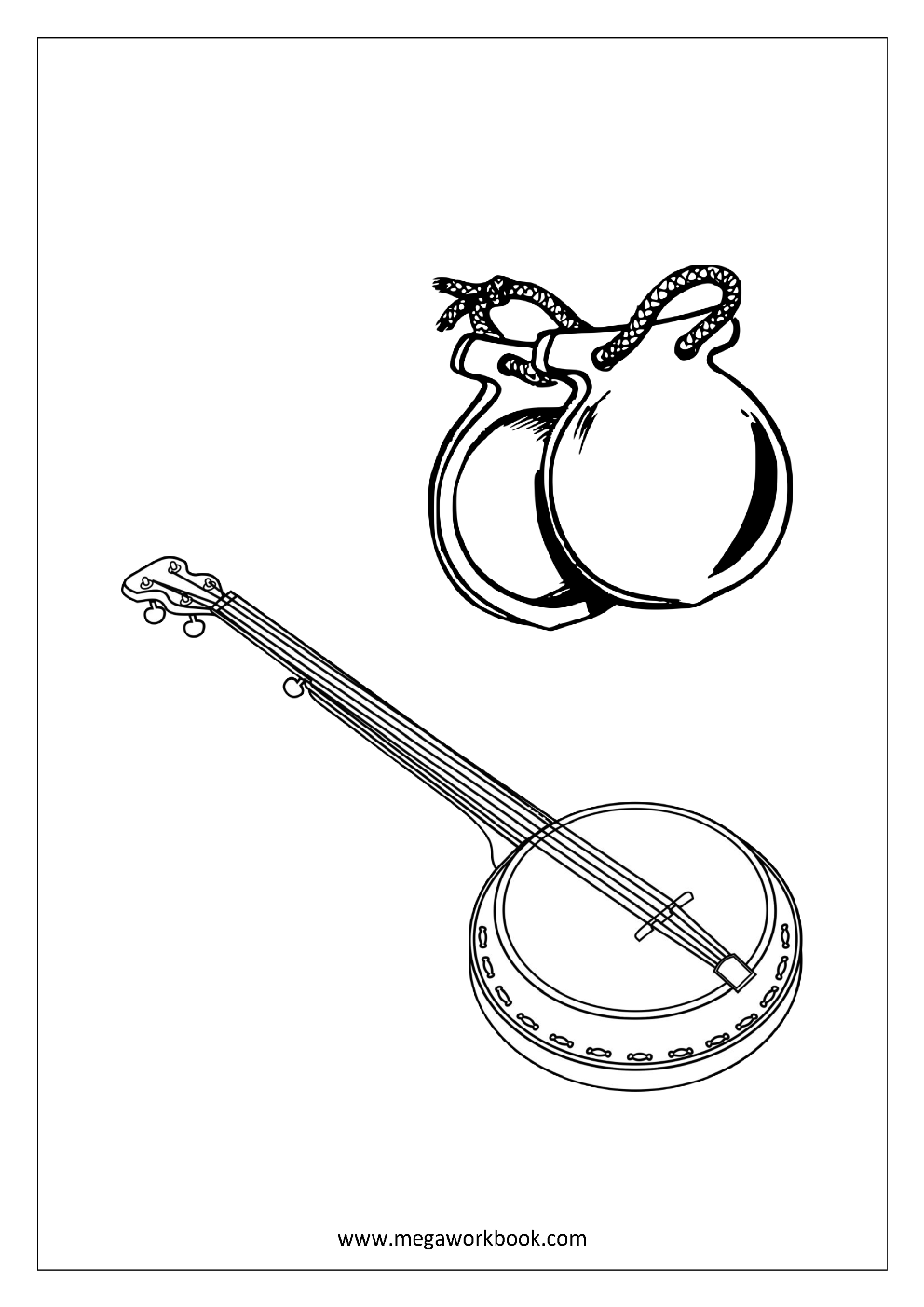 free printable coloring pages of musical instruments 14 best music instrument theme pre k images on pinterest of printable coloring instruments musical pages free