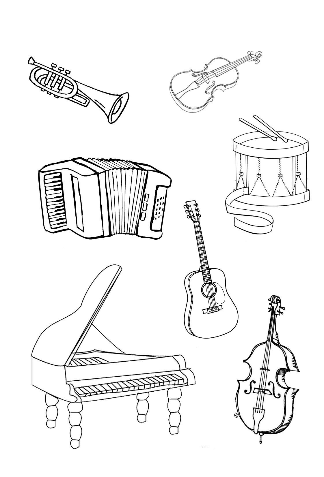free printable coloring pages of musical instruments 16 best percussion images on pinterest music education printable pages musical free instruments coloring of