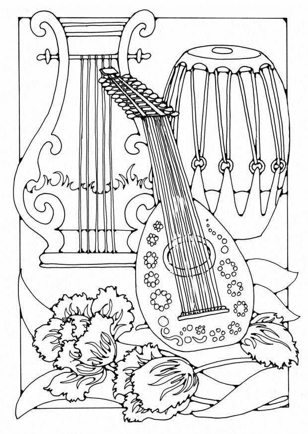 free printable coloring pages of musical instruments band instrument coloring pages kidsuki free printable instruments coloring musical pages of