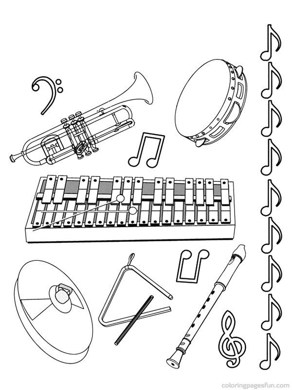 free printable coloring pages of musical instruments free music coloring pages sheets for kids preschool printable coloring pages instruments of free musical