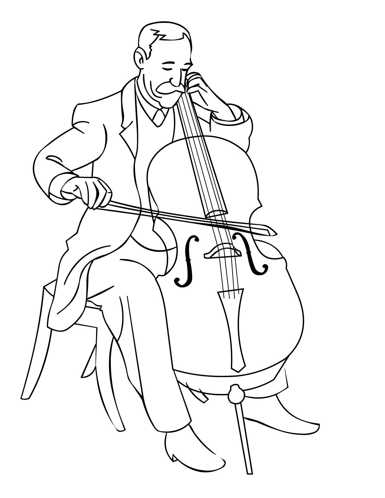 free printable coloring pages of musical instruments music instrument coloring page getcoloringpagescom of printable free pages musical instruments coloring