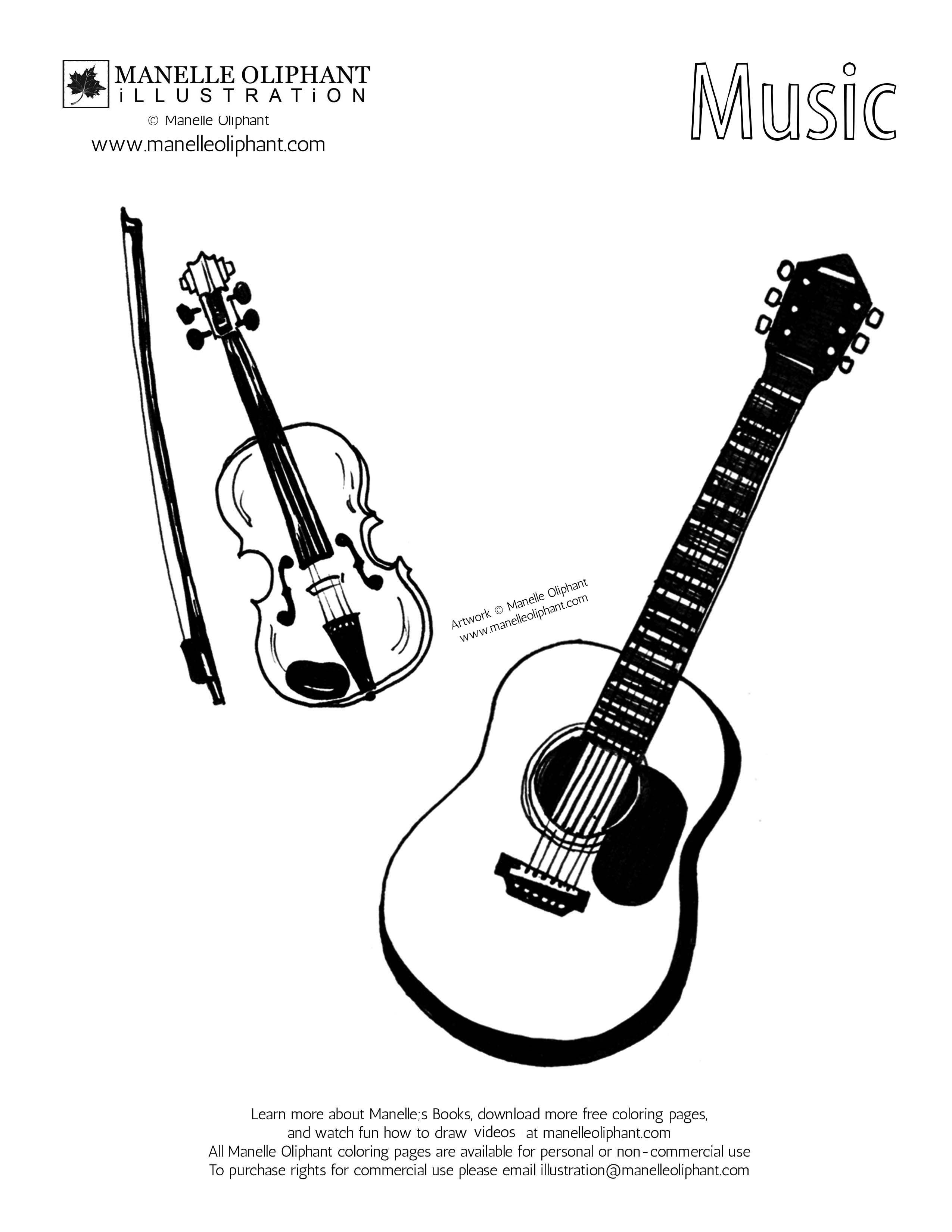free printable coloring pages of musical instruments music instruments names and pictures free download on printable pages instruments of musical coloring free