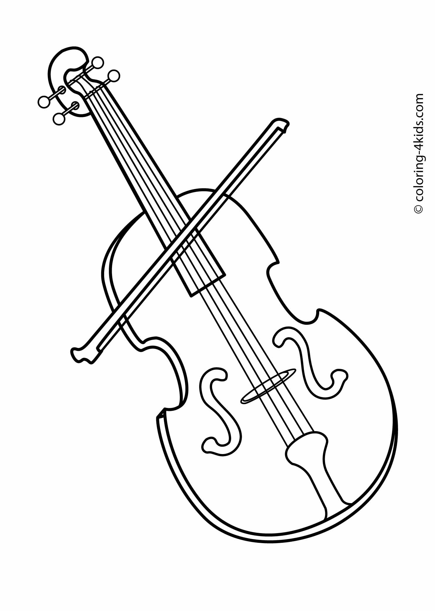 Free printable coloring pages of musical instruments