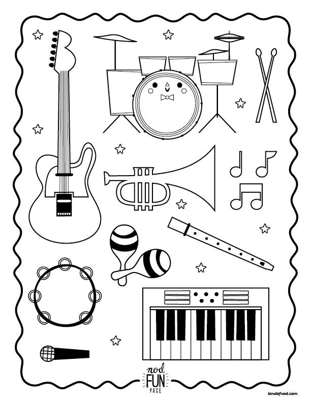 free printable coloring pages of musical instruments nod printable coloring page instruments for musical coloring instruments musical pages of free printable