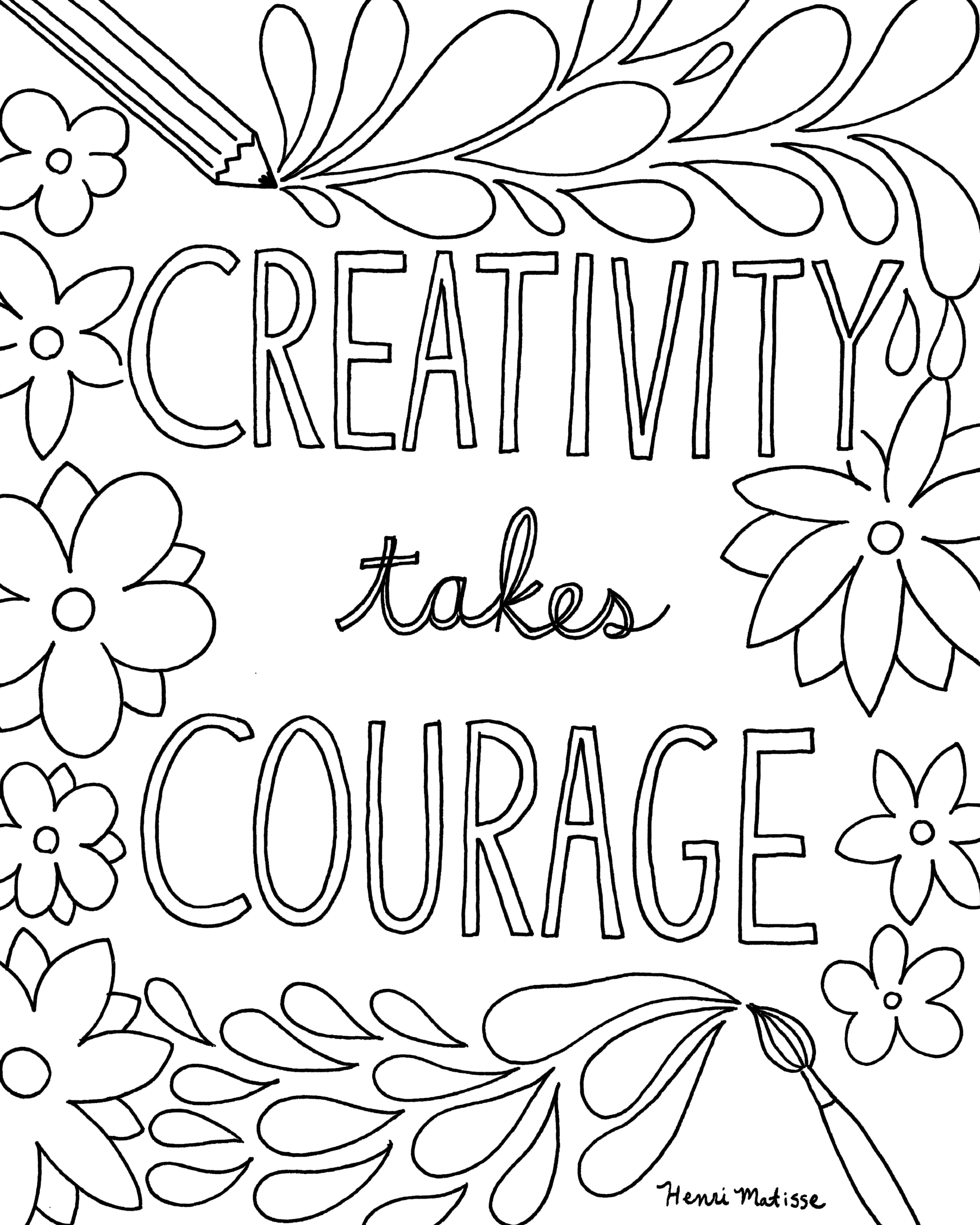 Free printable coloring quotes