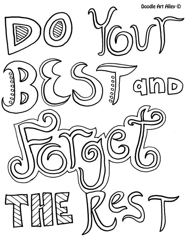 free printable coloring quotes inspirational word coloring pages 34 getcoloringpagesorg free coloring quotes printable