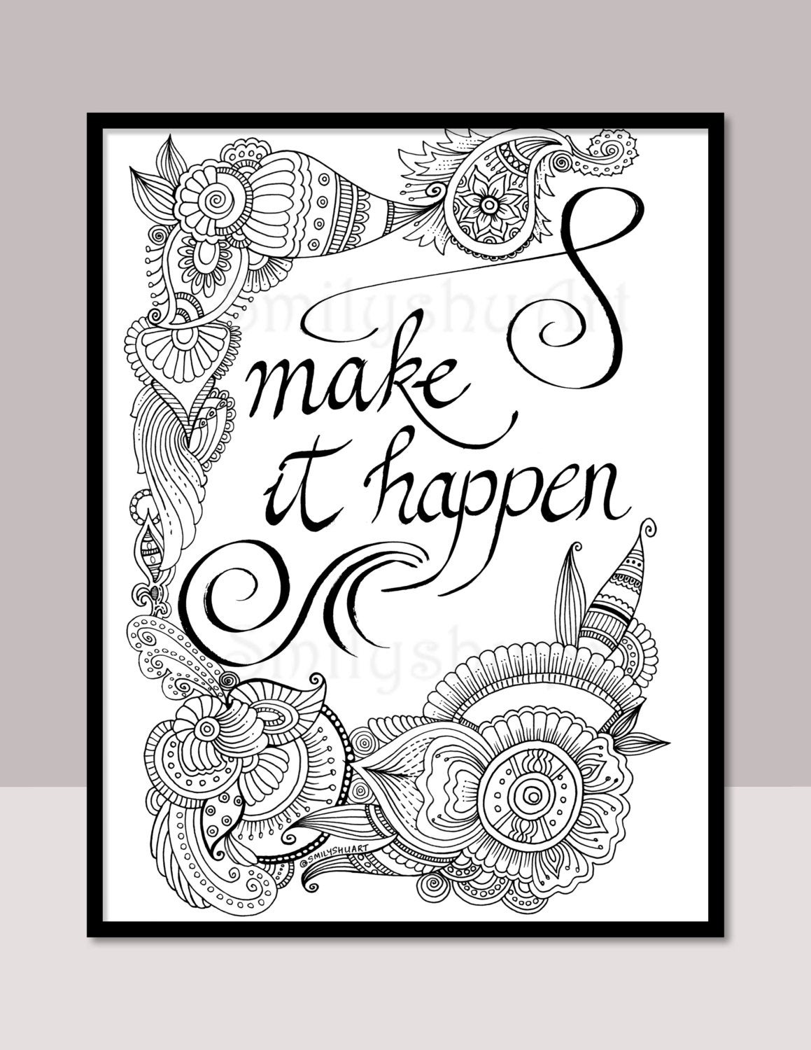 free printable coloring quotes quote coloring page instant download line art by mollymattin free coloring printable quotes