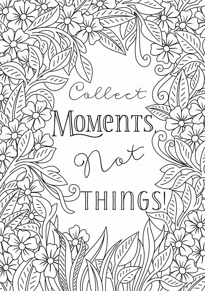 free printable coloring quotes quote coloring page instant download line art coloring printable free quotes
