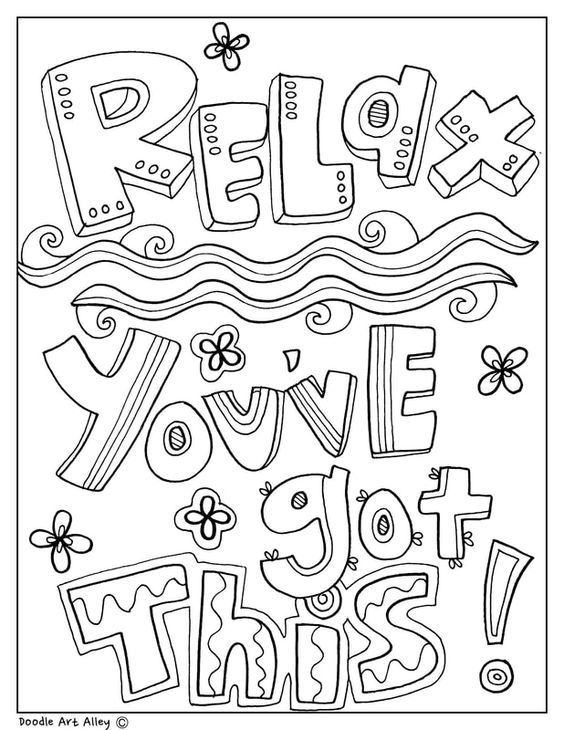 free printable coloring quotes quote coloring pages for adults and teens best coloring coloring printable free quotes