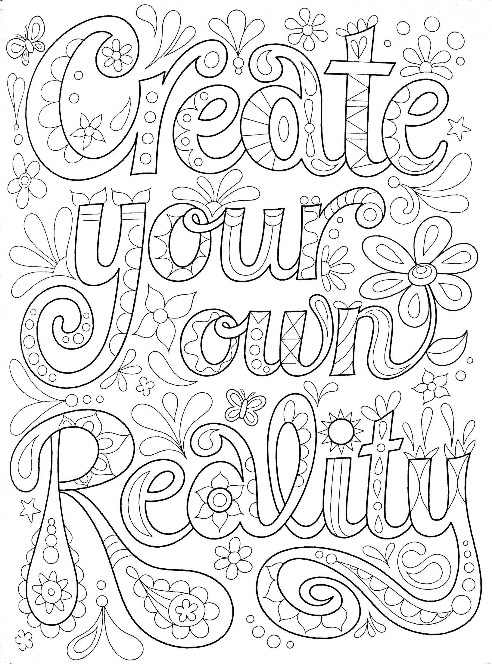 free printable coloring quotes quote coloring pages for adults and teens best coloring printable coloring free quotes