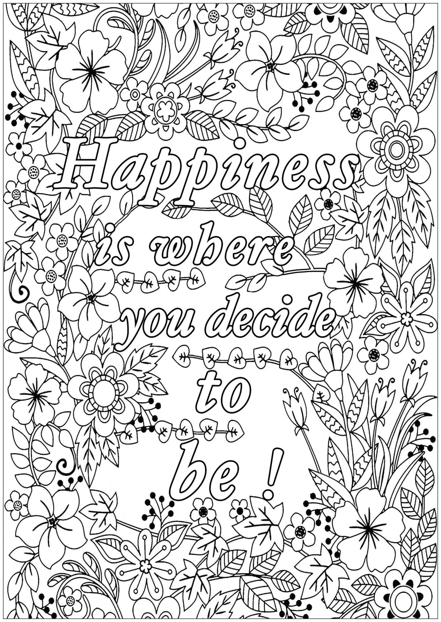 free printable coloring quotes sayings coloring pages coloring home coloring printable free quotes