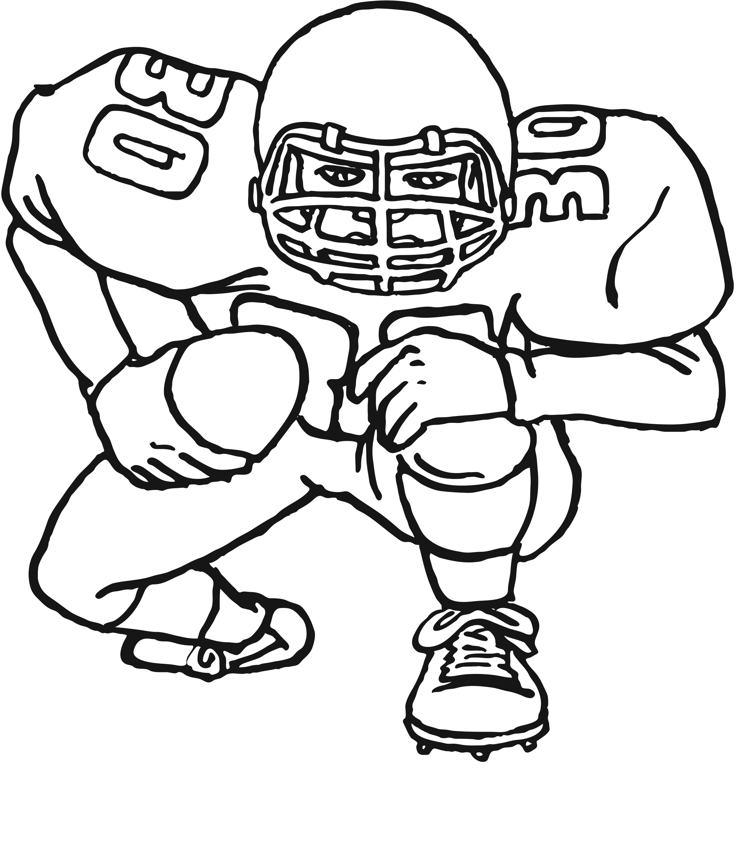 Free printable football colouring pages