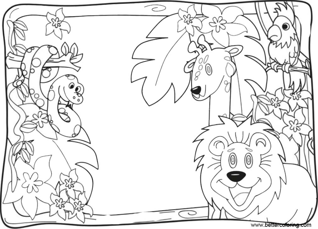 free printable jungle coloring pages free jungle coloring page free coloring daily jungle coloring printable free pages