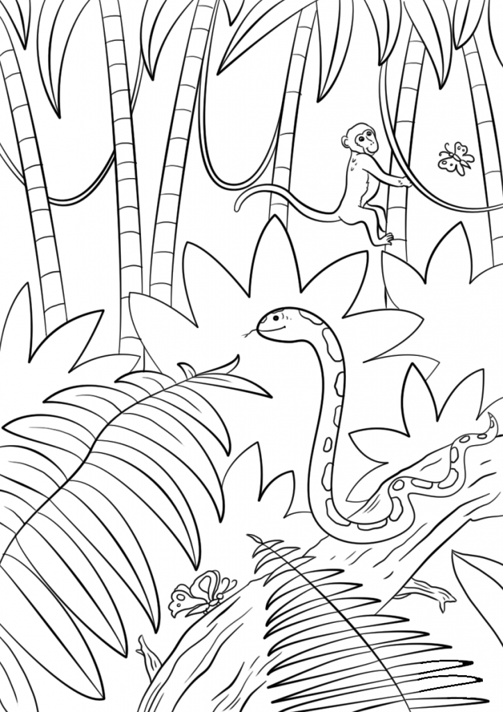free printable jungle coloring pages jungle animal coloring pages to download and print for free coloring printable jungle free pages