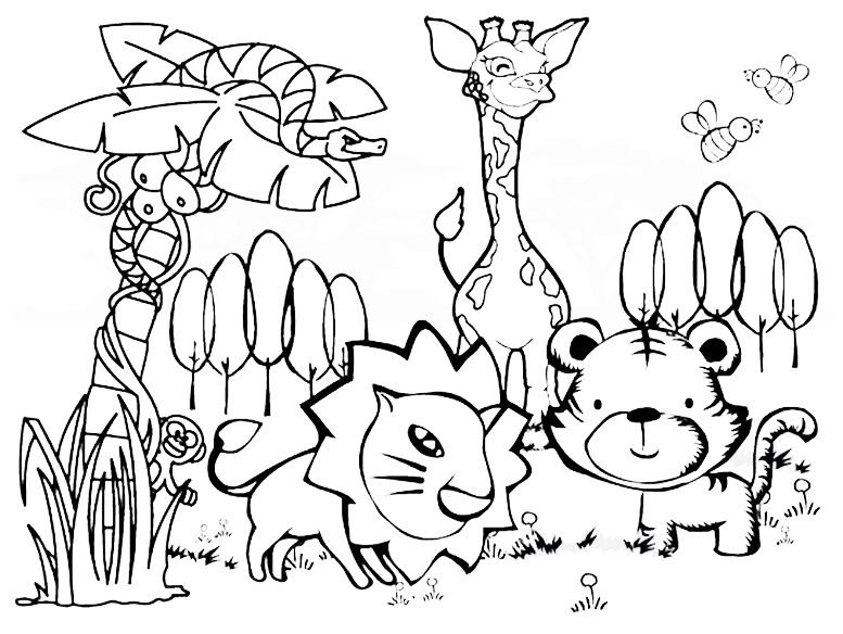 free printable jungle coloring pages king of the jungle coloring page with images coloring coloring printable jungle free pages