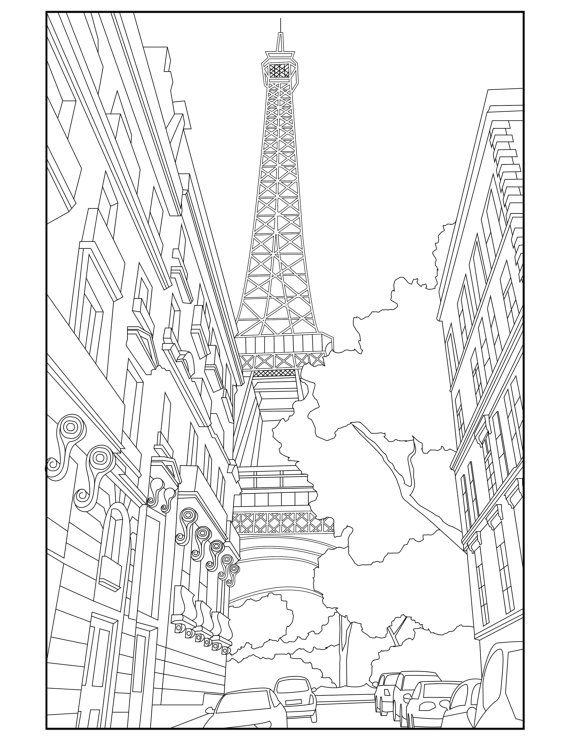 free printable paris coloring pages eiffel tower drawing images at getdrawings free download free pages paris printable coloring