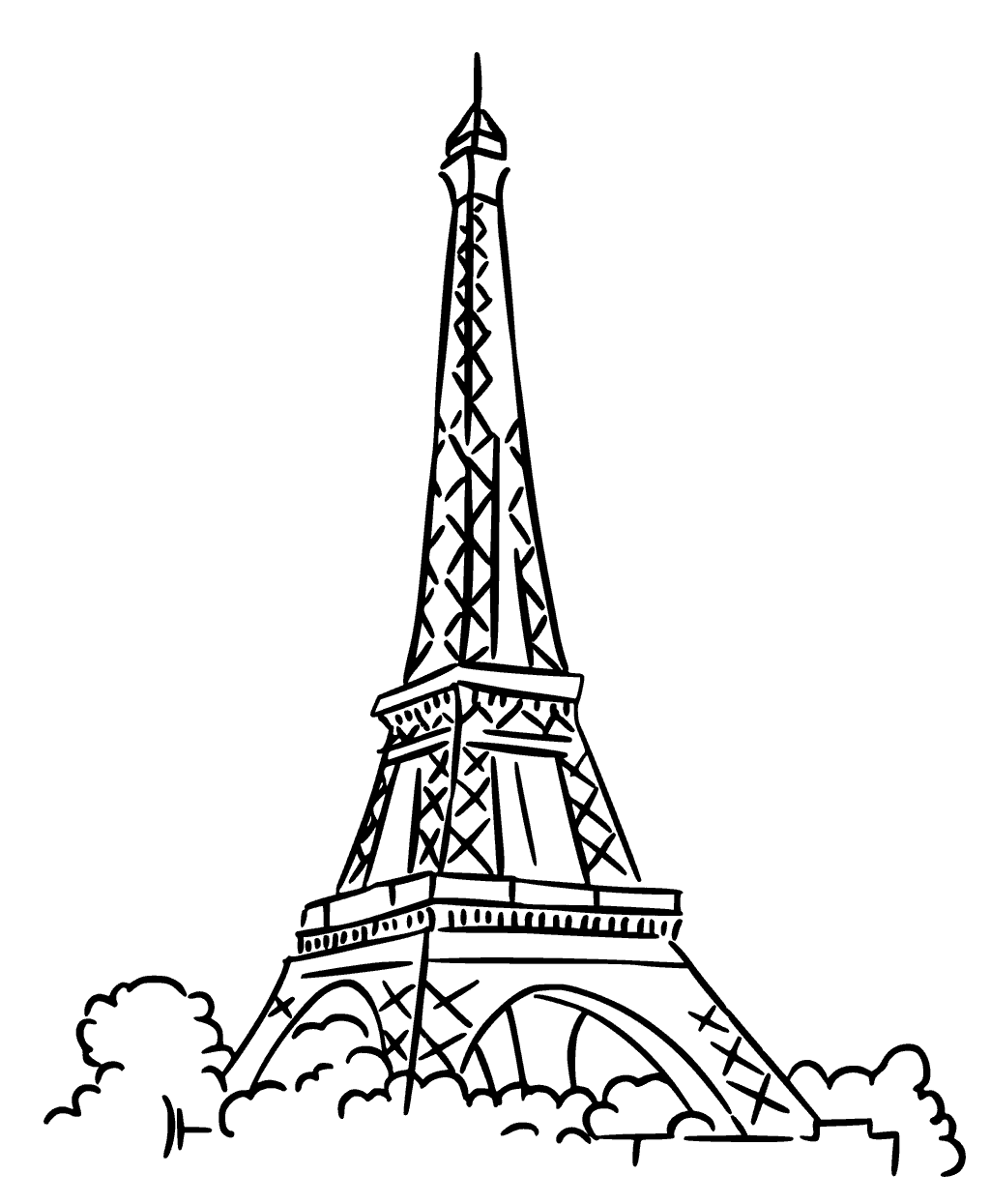 free printable paris coloring pages free printable eiffel tower coloring pages for kids pages coloring printable free paris