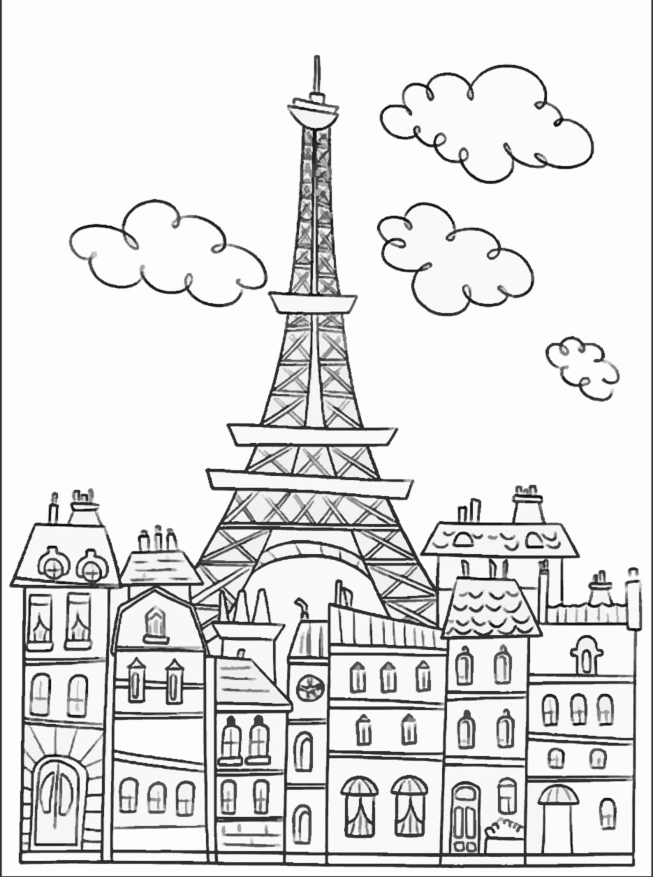 free printable paris coloring pages paris eiffel tower coloring pages download and print for free pages printable coloring paris free