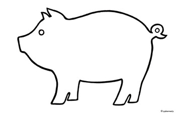 free printable pig template 31 best coloring farm stuff images on pinterest animal printable pig free template