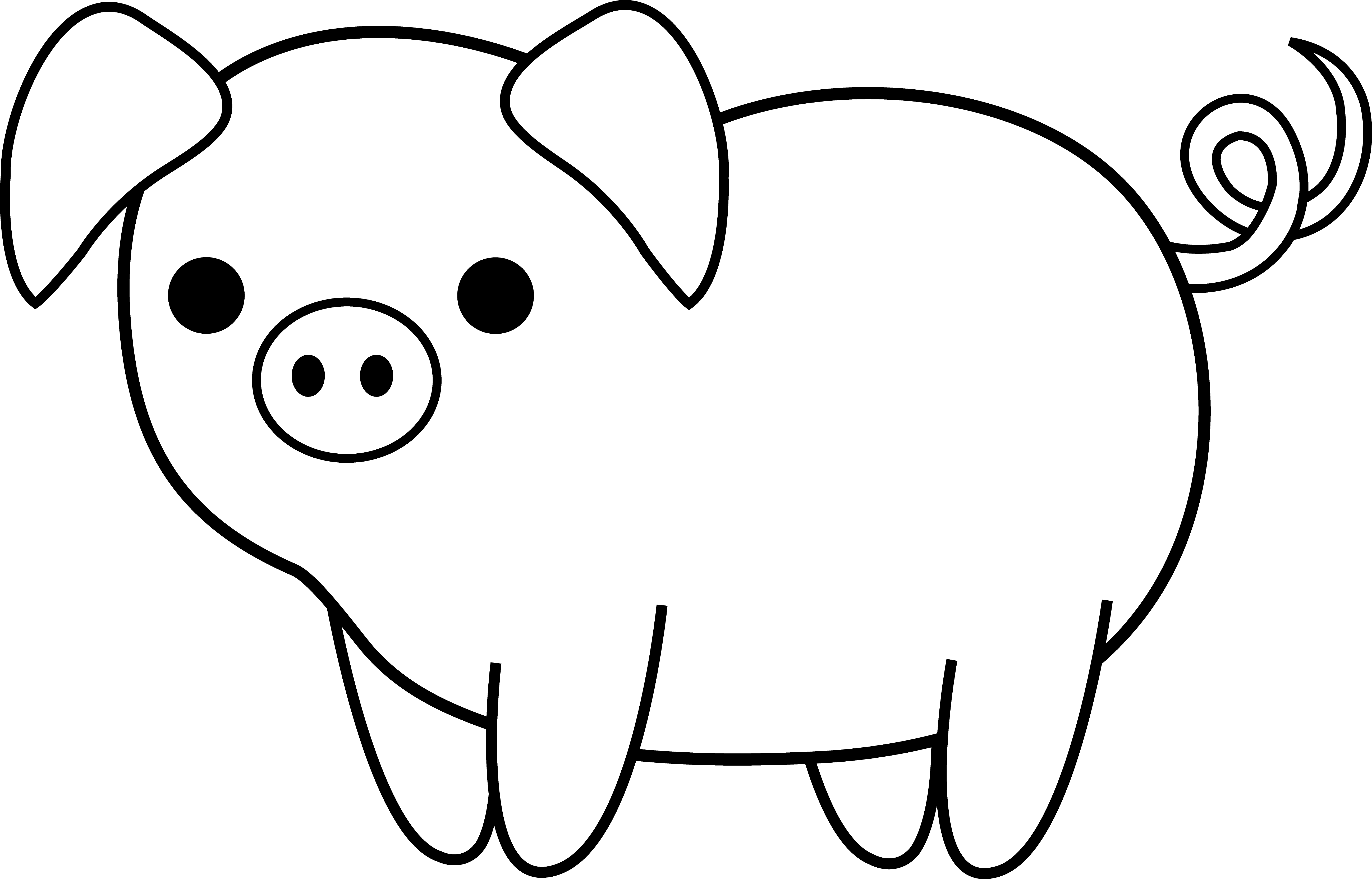 free printable pig template animals crafts print your pig craft template at printable free pig template