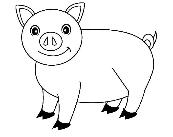 free printable pig template cute colorable piglet free clip art pig crafts animal pig template printable free