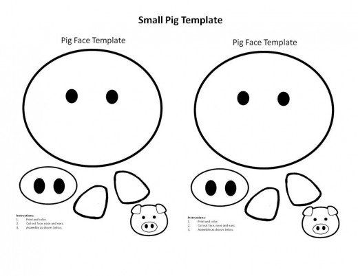 free printable pig template little pig coloring page free printable pig template