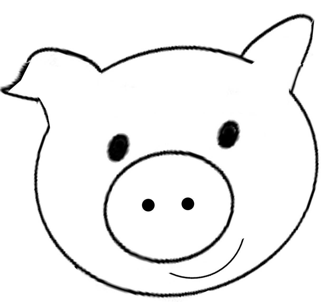 free printable pig template outline of a pig free download on clipartmag free pig template printable