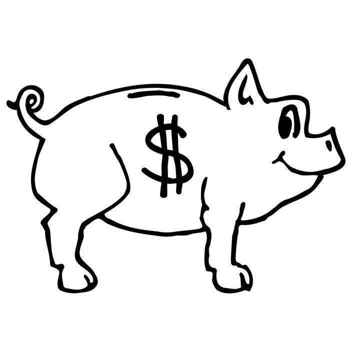 free printable pig template pig outline coloring page free printable coloring pages printable template free pig